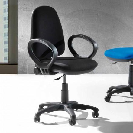 Moderne roterende ergonomische bureaustoel in ecologisch leer of weefsel - Calogera