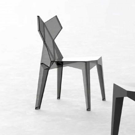 Stapelbare designstoel voor buiten in polycarbonaat, 4 stuks - Kimono van Vondom