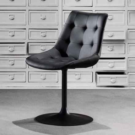 Bureaustoel, zitting in eco-leer met getufte afwerking - Aura