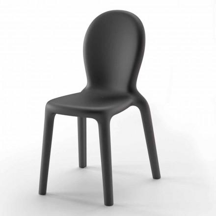 Stapelbare stoel in gekleurd polyethyleen Made in Italy, 2 stuks - Jamala