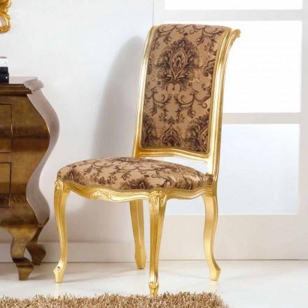 Houten stoel met een klassieke stijl met bladgoud benen Bellini
