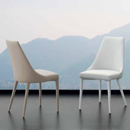 Metalen stoel volledig bedekt met kunstleer Nepitella