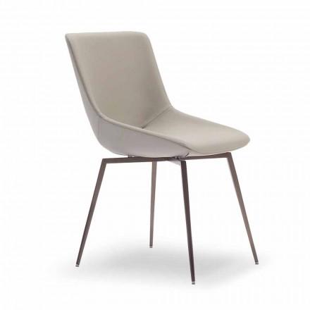 Moderne eetkamerstoel met leer Made in Italy - Bonaldo Artika