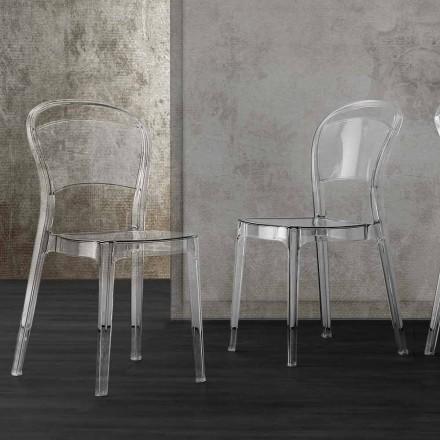 Moderne design transparante polycarbonaat stoel - Yanis