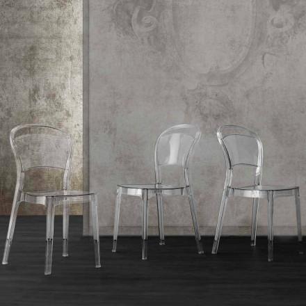 Transparante polycarbonaat stoel met een modern Ferrara-ontwerp