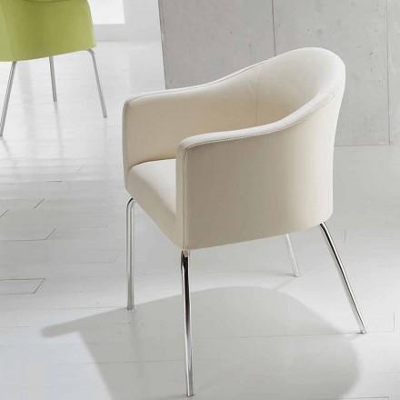 Moderne stoel in kunstleer Moon