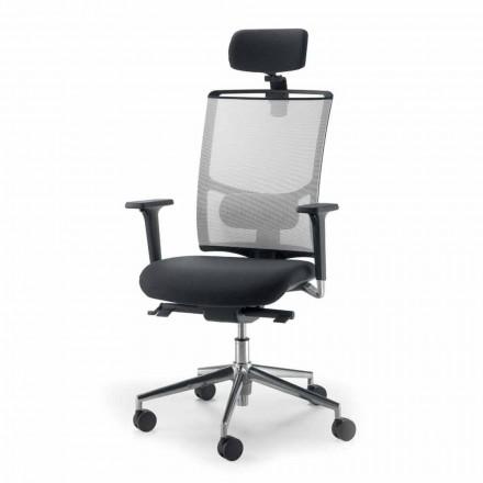 Operatieve en semi-uitvoerende stoel in weefsel geproduceerd in Italië Mina