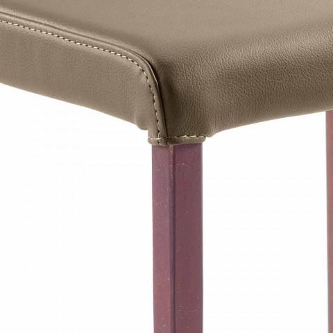 Abbie kunstlederen design eetkamerstoel, made in Italy