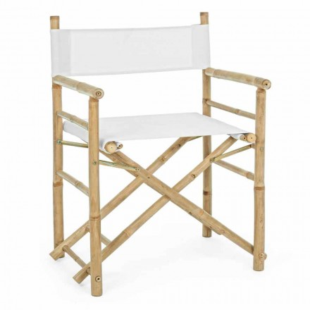 Folding Garden Outdoor Natural Bamboo Director Chair - Blumele