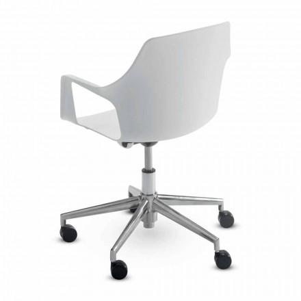 Bureaustoel in aluminium en polypropyleen gemaakt in Italië, 2 stuks - Charis