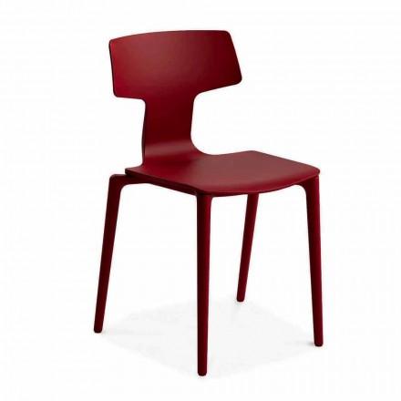 Stapelbare polypropyleen stoelen voor buiten gemaakt in Italië, 4 stuks - Claribel