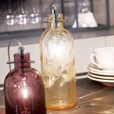 Selene Bossa Nova tafellamp Ø10 H 26cm amber glas geblazen