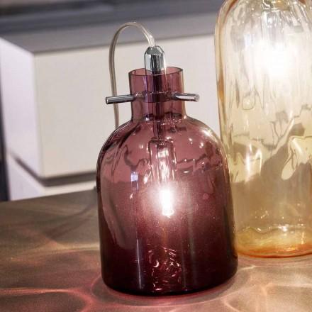 Selene Bossa Nova tafellamp Ø11 H16cm, geblazen glazen amethist