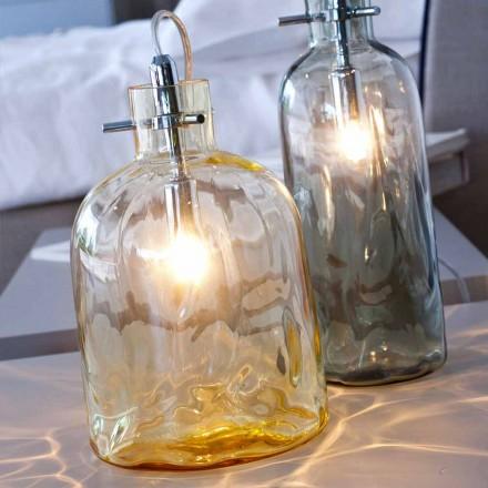 Selene Bossa Nova tafellamp Ø15 H 21cm amber glas geblazen