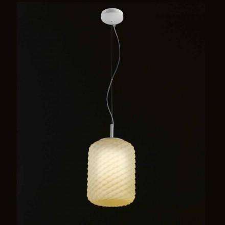 Selene Domino hanglamp geblazen Ø21 H 27/140 cm glazen
