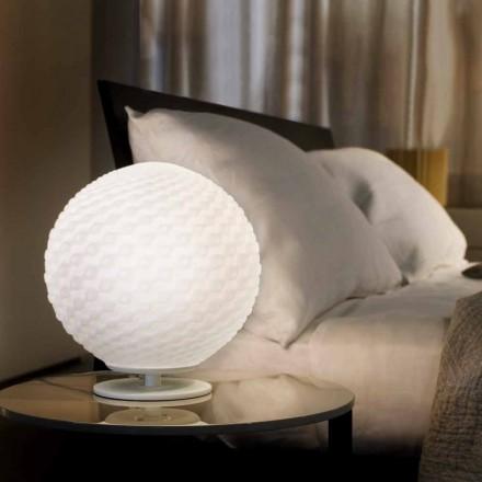 Selene Domino van witte tafellamp van geblazen glas Ø27 H 30cm