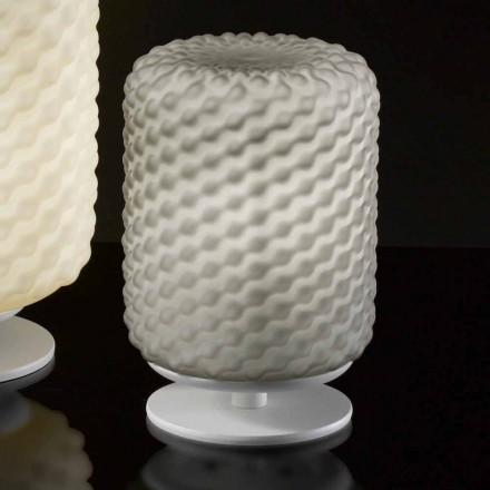 Selene Domino tafellamp Ø15 H22cm, geblazen glazen handgemaakte