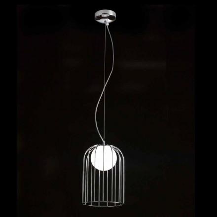 Selene Kluvì hanglamp geblazen glazen Ø19 H 27 / 150cm