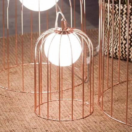 Selene Kluvì lumetto geblazen glas en metaal Ø19 H 27cm