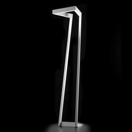 Selene My Way witte LED-vloerlamp H180cm 40x40, made in Italy