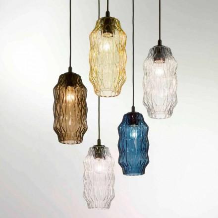 Selene Origami hanglamp geblazen glazen Ø16 H 30 / 140cm