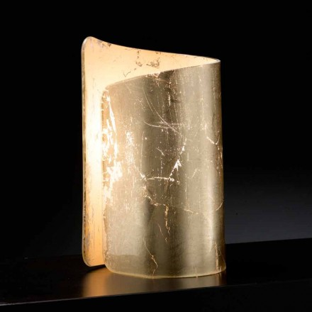 Selene Papiro tafellamp kristal gemaakt in Italië 15x14xH25cm