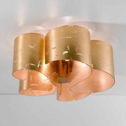 Selene Papiro plafondlamp moderne kristallen Ø65 H28cm, made in Italy