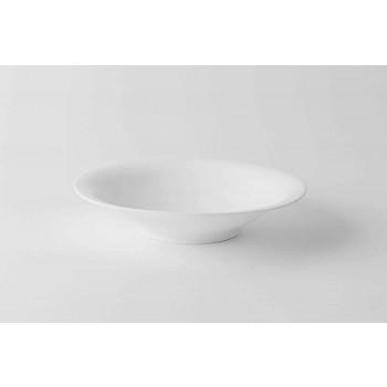 24 elegante dinerborden in wit porselein - Doriana