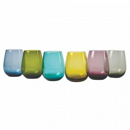 Design Gekleurde Glazen Waterglazen, 12 Stuks - Aperi