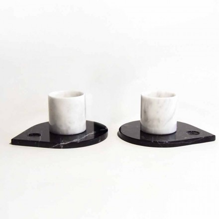Koffieservice in Carrara-marmer en moderne Marquinia Made in Italy - Garda