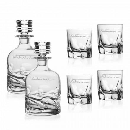 Ecologische Crystal Whisky Service met persoonlijk logo - Titanium