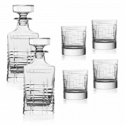 Crystal Eco Whisky Service, aanpasbaar met logo, 6 stuks - aritmie