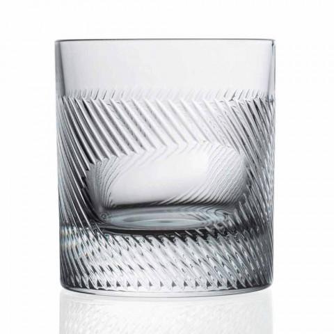 6-delige luxe design ecologische kristallen whisky set - tactiel