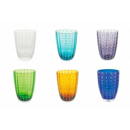 Set van 12 modern gekleurde glazen design glazen voor water - Botswana