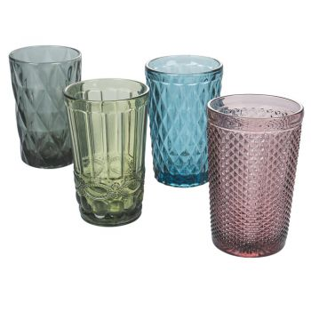 12-delig servies van gesneden glas - Artemisia