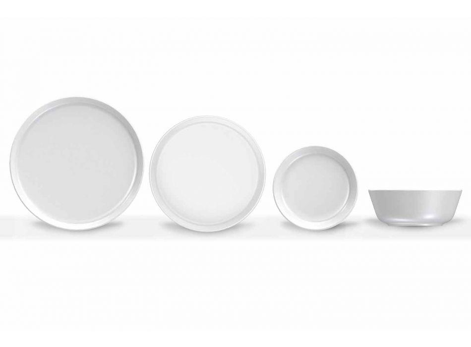 Wit modern design porseleinen dinerborden 24-delig - Arctic