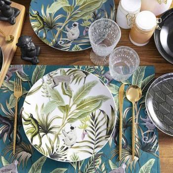 18-delig modern serviesgoed van gekleurd porselein en steengoed - Antananarivo
