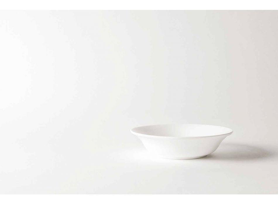 4-delige serveerborden van wit designporselein - Samantha