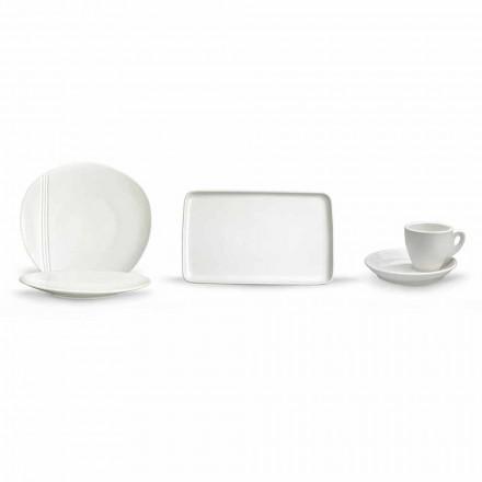 Modern porseleinen aperitief servies set 36 stuks - Nalah