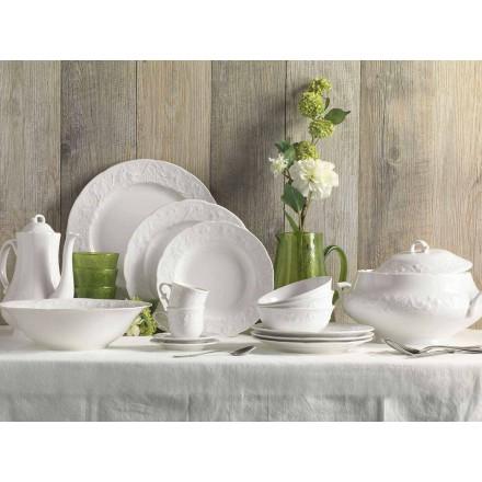 Set van 27 elegante designborden van wit porselein - Gimignano