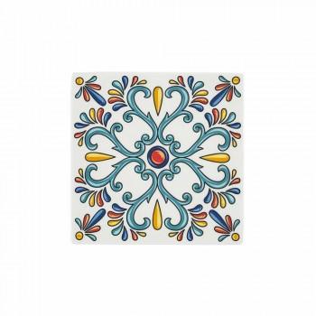 18-delig modern servies van Gres en porselein gekleurde borden - Iglesias