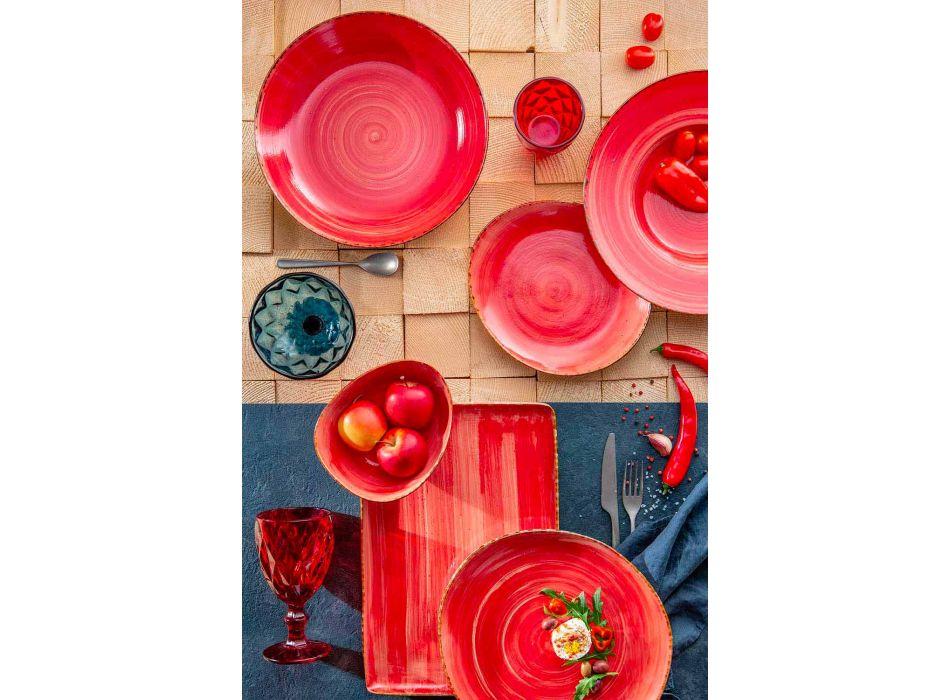 12 Stuks Voorgerechtbordjes Service in Gekleurd Steengoed van Modern Design - Simba