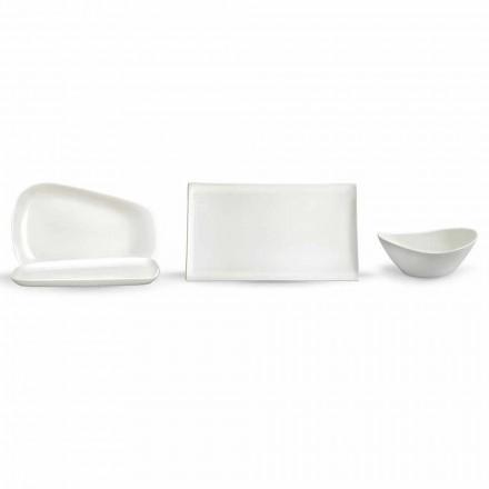 Serveerborden voor lunch of modern porselein 14 stuks - Nalah