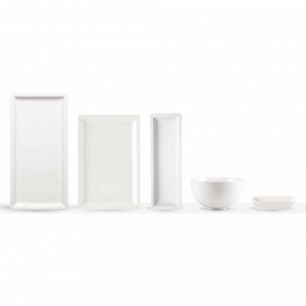 Wit porseleinen moderne dinerborden set 25 stuks - basaal