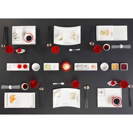 Servies Modern Design Rechthoekig Porselein 25 Stuks - Melbourne