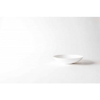 6-delige gastronomische dinerborden in wit designporselein - Romilda