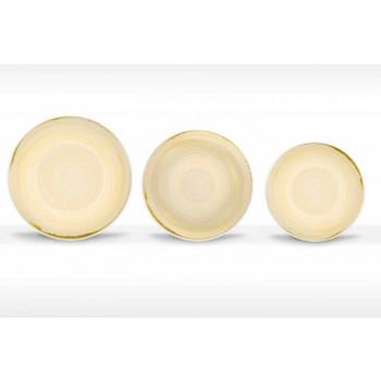 18-delig porselein gekleurd en modern servies voor dinerborden - Rurolo