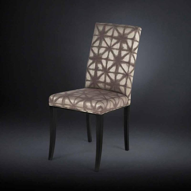 2 september gestoffeerde moderne stoelen met houten benen in zwarte Audrey