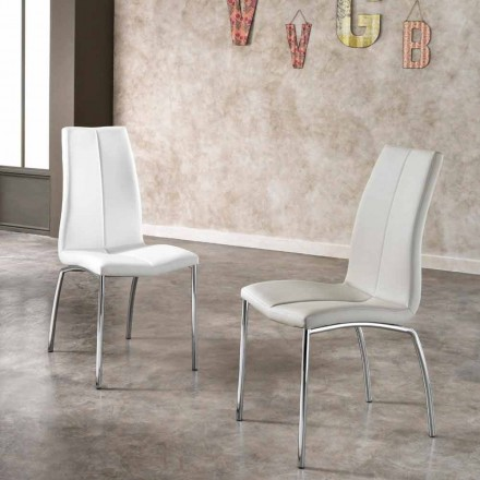 September 4 stoelen modern design faux leder en chroom metalen Alba