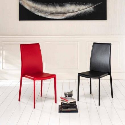 September 4 moderne stoelen Joy kunstleder, geheel bedekt